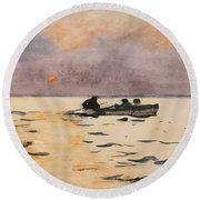 Rowing Home Round Beach Towel
