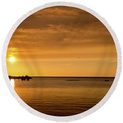 Round Beach Towel featuring the photograph Rowingteam by Onyonet  Photo Studios