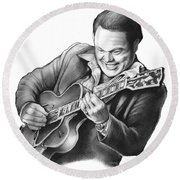 Roy Clark Round Beach Towel