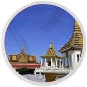 Roy Palace Cambodia 10 Round Beach Towel