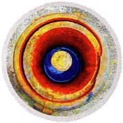 Round Beach Towel featuring the mixed media Royal Air Force by Tony Rubino