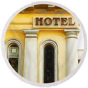 Royal Albion Hotel Brighton Round Beach Towel
