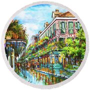 Royal At Pere Antoine Alley, New Orleans French Quarter Round Beach Towel
