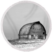Royal Barn Bw Round Beach Towel by Bonfire Photography