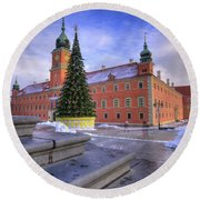 Round Beach Towel featuring the photograph Royal Castle by Juli Scalzi