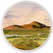Royal County Down Golf Course Round Beach Towel
