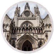 Royal Courts Of Justice In London Round Beach Towel