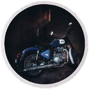 Royal Enfield Round Beach Towel