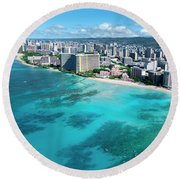 Royal Hawaiian Hotel, Waikiki Round Beach Towel