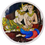 Royal Lovers Of Siam  Round Beach Towel by Ian Gledhill