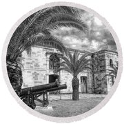 Royal Navy Dockyard Fort - Bermuda Round Beach Towel by Luther Fine Art