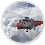 Round Beach Towel featuring the photograph Royal Navy - Sea King by Pat Speirs