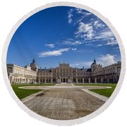 Royal Palace Of Aranjuez Round Beach Towel