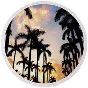 Royal Palm Way Round Beach Towel