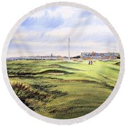 Royal Troon Golf Course Round Beach Towel