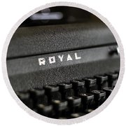 Royal Typewriter #19 Round Beach Towel