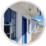 Roy's Motel And Cafe Auto Court Round Beach Towel by Kyle Hanson