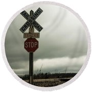 Rr Crossing Round Beach Towel