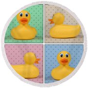 Rubber Ducky Round Beach Towel
