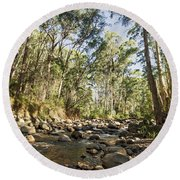 Round Beach Towel featuring the photograph Rubicon River by Linda Lees
