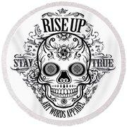 Rubino Rise Up Skull Round Beach Towel
