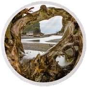 Ruby Beach Driftwood 2007 Round Beach Towel