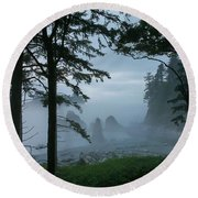 Ruby Beach II Washington State Round Beach Towel by Greg Reed