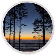 Ruby Beach Trees #4 Round Beach Towel