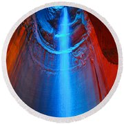Ruby Falls Waterfall 3 Round Beach Towel