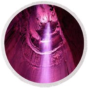 Ruby Falls Waterfall 5 Round Beach Towel