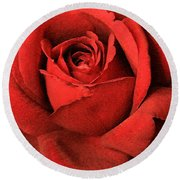 Ruby Rose Round Beach Towel by Marna Edwards Flavell