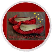 Ruby Slippers Round Beach Towel
