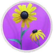 Round Beach Towel featuring the photograph Rudbeckia 3 by Cindy Garber Iverson