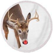 Rudolph Round Beach Towel