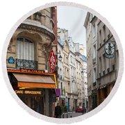 Rue Dante Paris Round Beach Towel