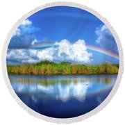 Rue's Rainbow Round Beach Towel