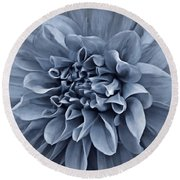 Ruffles In Blue Round Beach Towel