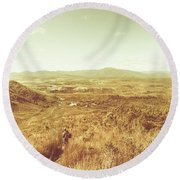 Rugged Bushland View Round Beach Towel