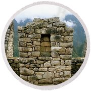 Ruins In A Lost City Round Beach Towel