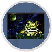 Ruler Of The Cosmos  Round Beach Towel
