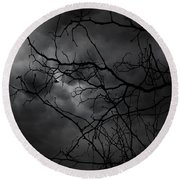 Ruler Of The Night Round Beach Towel