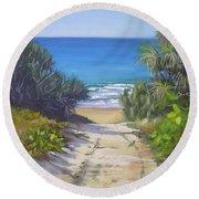 Rules Beach Queensland Australia Round Beach Towel by Chris Hobel