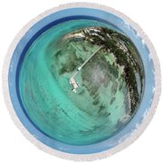 Round Beach Towel featuring the photograph Rum Point Little Planet by Adam Romanowicz