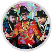 Run Dmc Round Beach Towel