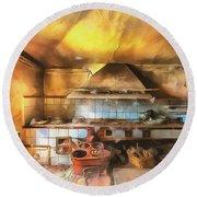 Rural Culinary Atmosphere Nr 2 - Atmosfera Culinaria Rurale IIi Paint Round Beach Towel