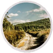 Rural Paths Out Yonder Round Beach Towel