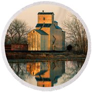 Rural Reflections Round Beach Towel