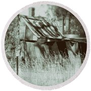 Round Beach Towel featuring the photograph Rural Reminiscence by Linda Lees