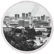 Round Beach Towel featuring the photograph Rural Scenes In The Magic City by Shelby Young