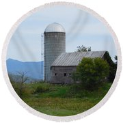 Rural Vermont Round Beach Towel